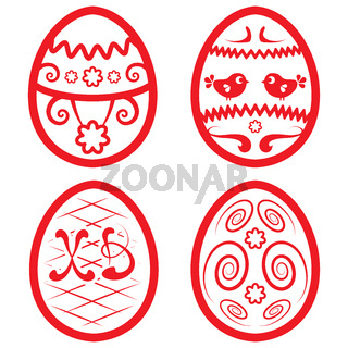 Vector Easter set for design. beautiful eggs