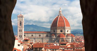 Cathedral of florence tuscany italy with frame