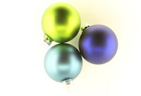 Colorful Christmas tree ornaments