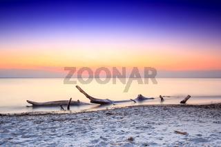 Sonnenuntergang am Darsser Weststrand