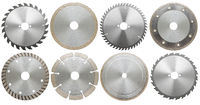 set of circilar saw blades, isolated