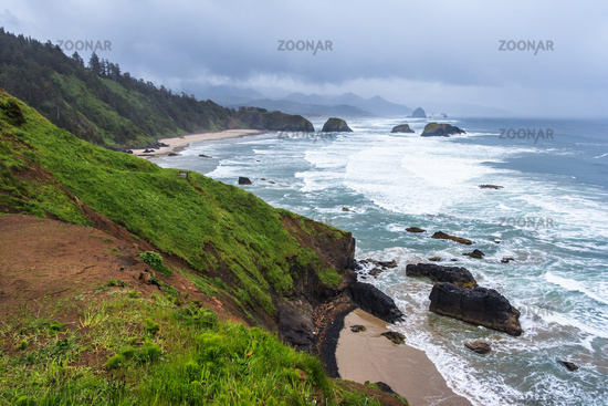 Crescent Beach at Ecola State Park near Cannon Beach Oregon USA