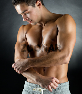 young male bodybuilder