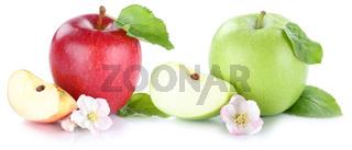 Apfel Frucht Äpfel Früchte Freisteller freigestellt isoliert