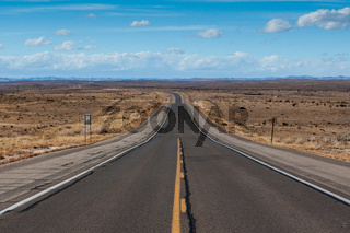 Open highway in New Mexico