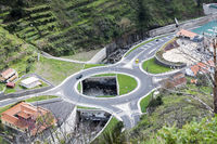 big roundabout on madeira island