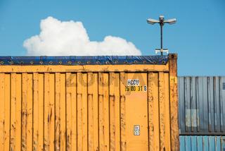 Container Lager in Waltershof, Hamburg