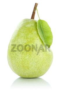 Birne Frucht Obst grün Freisteller freigestellt isoliert