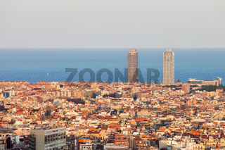 Barcelona Cityscape at Sunset