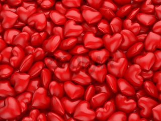 Red hearts texture background for Valentines Day.