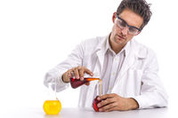 Chemist in the lab