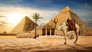 Entrance to pyramid