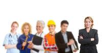 Team mit verschiedenen Berufen