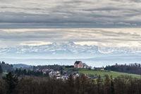 Föhnwetter über den Schweizer Alpen mit dem Säntis