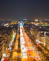 Champs-Elysees , Paris, France