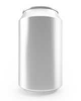 aluminum cans isolated on white background, alcohol and carbonated drinks.