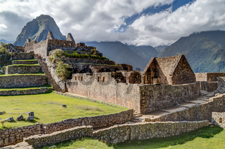 Ruins of old buildings in Machu Picchu