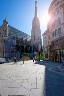 St. Stephen's Cathedral and the eponymous square, Vienna, Austria