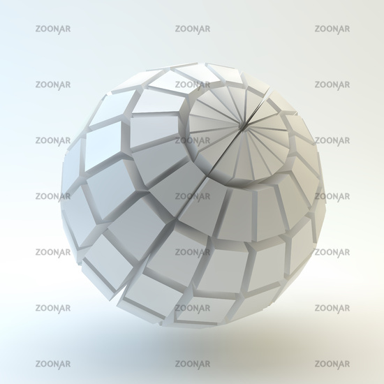 3D Sphere. Vector illustration.