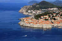 Dubrovnik, view to the old town