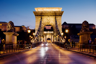 Chain Bridge in Budapest at Night