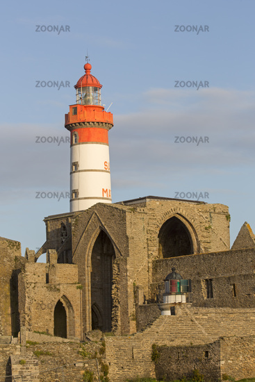 Point de St.-Mathieu lighthouse with abbey, Britta
