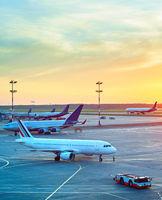 Modern airport overlooking