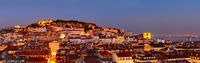 Lisbon Old Town panorama
