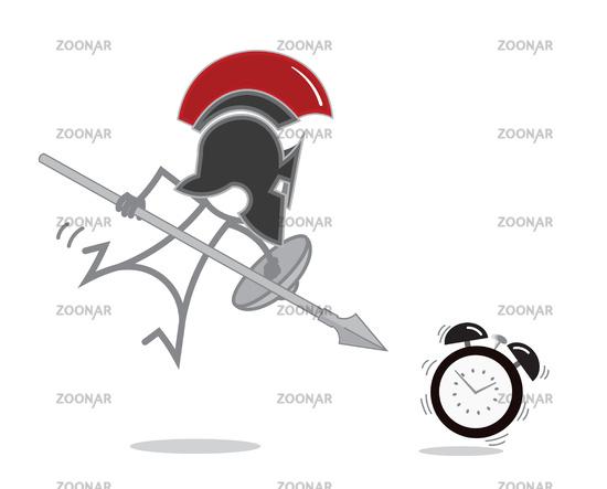 Spartan Warrior vs alarm clock