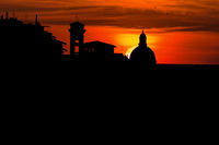 Sundown behind cathedral in florence