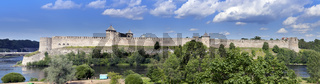 Ivangorod fortress at the border of Russia and Estonia