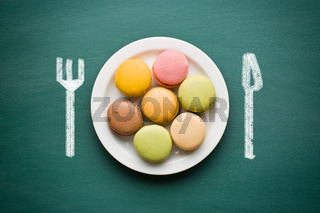 sweet french macarons