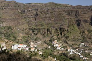 Dorf auf der Insel La Gomera, Spanien