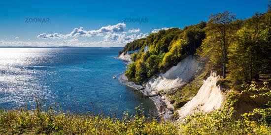 Chalk cliffs at Rugia Island