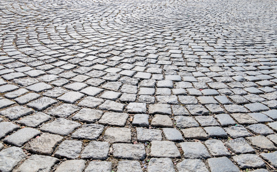 Paving stones in pedestrian zone