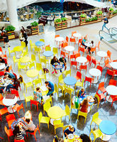 Food court at shopping center