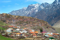 Typical georgian mountains village