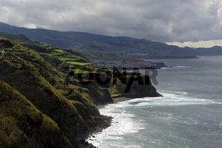 Coastal scenery near Maia, Sao Miguel, Azores