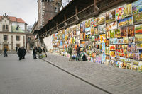 Paintings for sale Florianska Gate Cracow