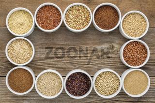 healthy, gluten free grains collection