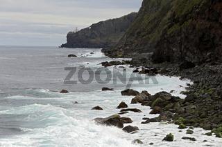 Coastal scenery near Nordeste, Sao Miguel, Azores