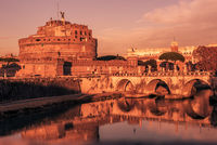 Rome, Italy: Hadrian#39;s Mausoleum or Castle of Holy Angel
