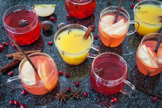 Winter punch with spices