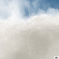 Blue Sky With Clouds. Mosaic. Abstract Mesh Background.