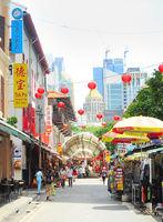 Singapore Chinatown shopping street