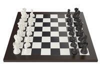 illustration of chess on chessboard