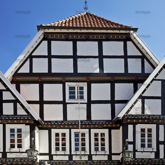 gable of a historic house in Rietberg, Germany