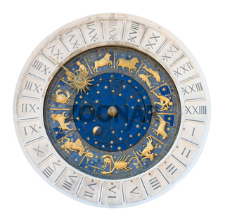 Venice clock tower dial cutout