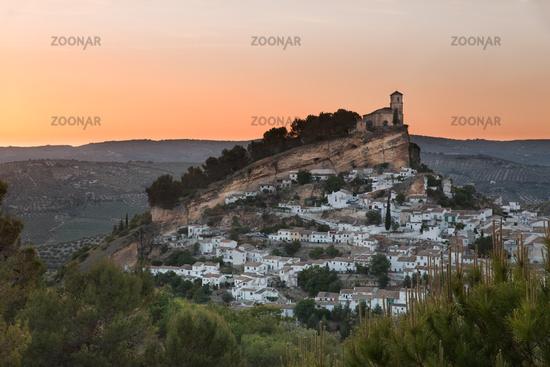 Montefrio at sunset, Province of Granada, Spain