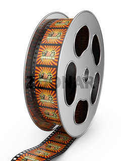 reel of film with color pictures